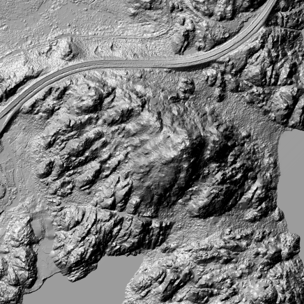 Hillshade: DTM and DSM with basic GIS Terrain Analysis of Svolvear | Resolution: 0.25m; Extend: 800x600m Tile: 33-1-496-326-64 | data source: hoydedata.no | Digital Processing: Marc Ihle